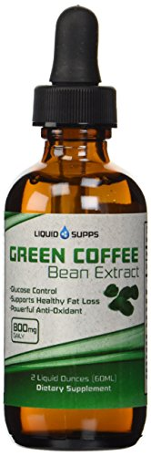 Green Coffee Bean Extract - Fast Absorbing Liquid - 100% Natural Weight Loss Supplement - 60 Servings, 400 Mg