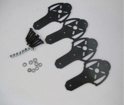 Hobbypower X400 X525 X600 Quadcopter Quadrotor Multirotor Carbon Fiber Motor Mount Set (Pack Of 4 Pcs)
