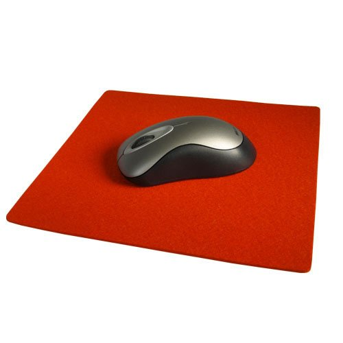 9 Inch Square Felt Mousepad - Mango