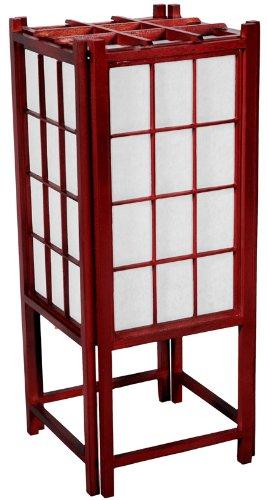 "On Sale Floor Lamp Best Value - 45"" Japanese Wood & Paper Shoji Lantern - Rosewood"