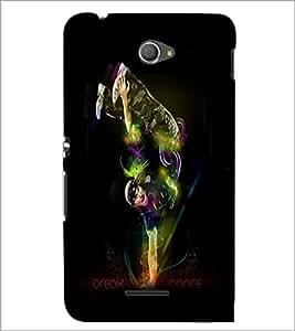 PrintDhaba Break Dance D-1177 Back Case Cover for SONY XPERIA E4 (Multi-Coloured)