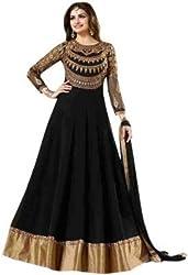 The Desi Attire Black Color Georgette Salwar Suit for Women ( Dress Material for Women _ Anarkali Suits _ embroidered dress material _ georgette dress materials)