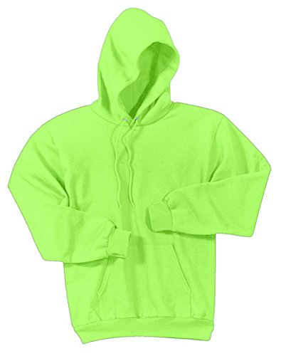 Port & Company Men'S Pullover Hooded Sweatshirt_Neon Green_Large