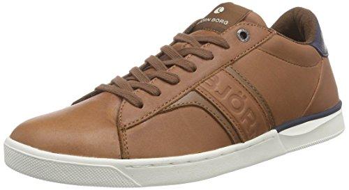 Björn Borg Footwear T100 LOW OIL M, Low-Top Sneaker uomo, Multicolore (Mehrfarbig (TAN-NAVY)), 45