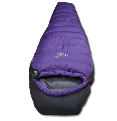 Amphbiousfrog Thicken Single Scoop Down Sleeping Bag/mummy Sleeping Bags for 3 Seasons (Spring Autumn Winter) (Purple)
