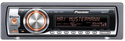 Pioneer DEH P 65 BT CD-Tuner (Bluetooth, Dual Zone Colour) schwarz