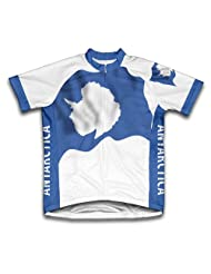 Antartica Flag Short Sleeve Cycling Jersey for Women
