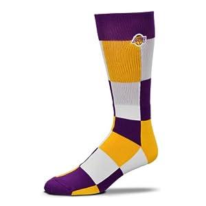 NBA Los Angeles Lakers Color Blocks Socks by FBF