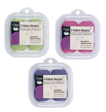 Find Bargain Dritz Fabric Pattern Weights One (4 pack) of Either Pink, Green or Purple ~ No Color Ch...
