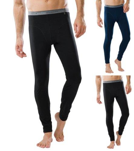 SCHIESSER Herren lange Unterhose, 95/5 Serie, 2 Farben: schwarz oder admiral blau, 205425, Farbe:schwarz;Größe:10 (4XL)