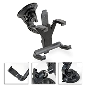 Navitech Firm Grip In Car Suction Cup Windscreen 360 degree Adjustable Mount Cradle For PC Tablet/ Touch Pad Devices Including The SKYTEX Skypad Alpha 7-Inch Touch Screen Cortex-A8 Tablet