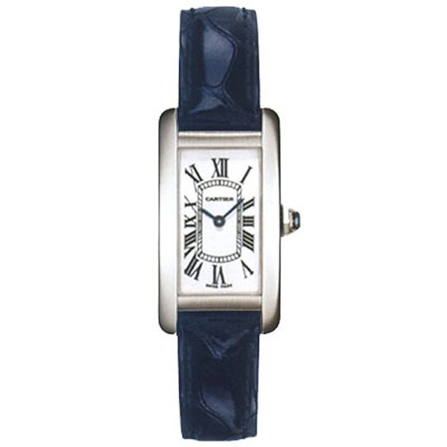 Cartier Tank Americaine 18kt White Gold Ladies Watch W2601956