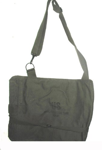 Us Army Olive Canvas Shoulder Bag Gas Mask Bag