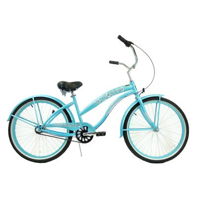 Women's 3-Speed Premium Beach Cruiser Frame Color: Baby Blue