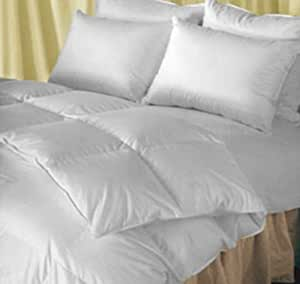 Natural Comfort Classic Heavy Fill White Goose Down Alternative Duvet Insert Comforter, Queen XL
