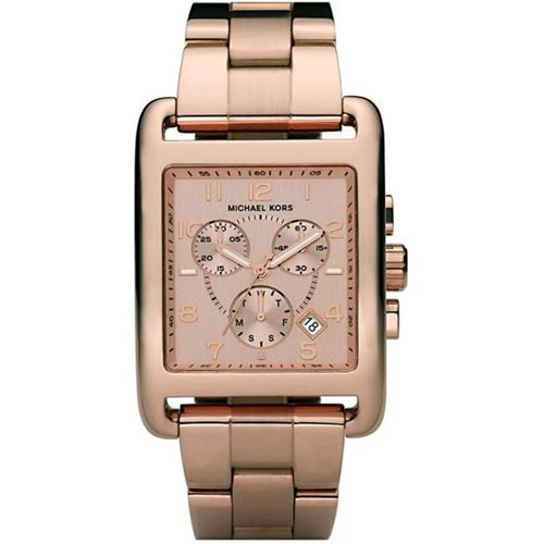 b66d2c0a94f3 Women s Rose Gold Tone Square Quartz Day Date Chronograph Link Bracelet