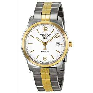 Tissot PR100 White Dial Two-tone Mens Watch T0494102201700: Tissot