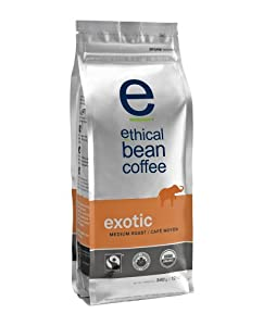 Ethical Bean Coffee CompanyExotic - Medium Roast, Whole Bean, 12-Ounce Bag (Pack of 2)