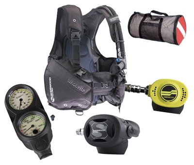 Sherwood Silhouette BCD/Brut Regs Economy Diving Package sourcing is Sherwood
