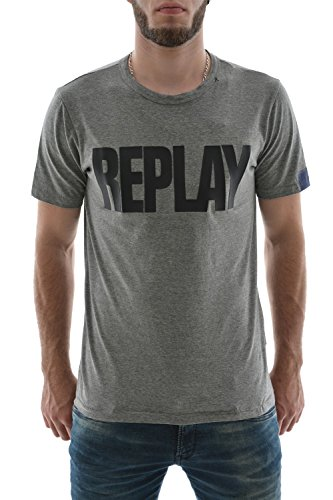 Replay -  T-shirt - Maniche corte  - Uomo grigio Large