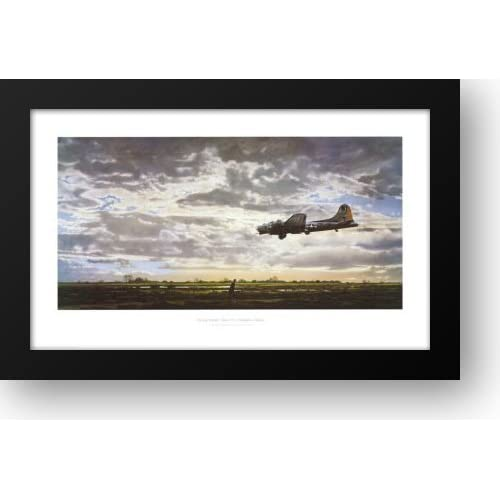 Amazon.com: On Final Approach 34x19 Framed Art Print by Corning, Merv