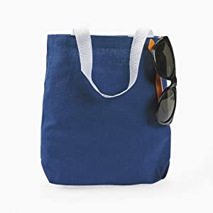 Blue Canvas Tote Bags (1 dz)