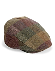 Pure Wool Bright Checked Flat Cap