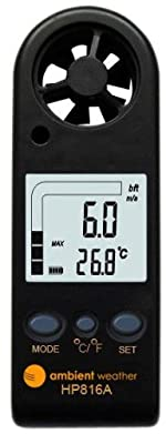 Ambient Weather HP816A Handheld Wind Meter with Temperature