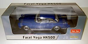 Facel Vega HK500 1/18 Scale Blue Diecast Car