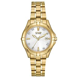 Citizen Women's EW1932-54A Diamonds Analog Display Japanese Quartz Gold Watch