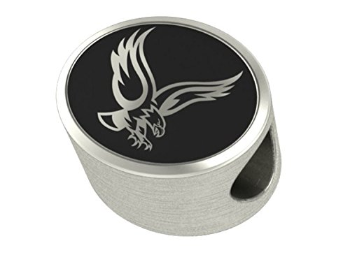 Boston College Eagles Sterling Silver Antiqued Bead Fits Most European Style Bracelets
