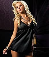 Flawless Chemise, S, Black by Seven 'til Midnight
