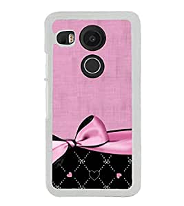 Pink Bow Pattern 2D Hard Polycarbonate Designer Back Case Cover for LG Nexus 5X :: LG Google Nexus 5X New