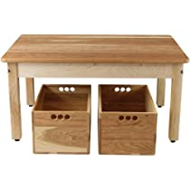 Cherry & Maple Childs Play Table with Two Cherry Storage Clubs