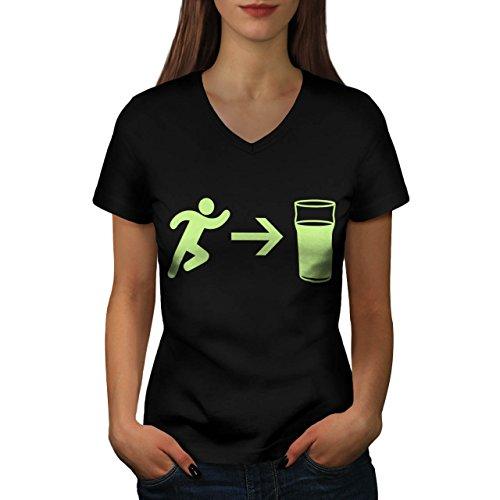 exit-beer-needs-me-women-new-black-l-v-neck-t-shirt-wellcoda