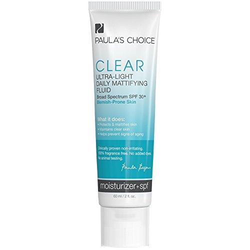 Paula's Choice Clear Ultra-Light Daily Fluid SPF 30+ Anti-Aging Moisturizer for Blemish-Prone or Oily Skin - 2 oz