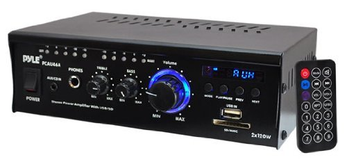 Pyle Home Pcau46A 2 X 120 Watts Mini Power Amplifier With Led Display Size: 2X120 Watt