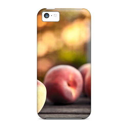 Fashionable ISC12475IRBj Iphone 5c Cases Covers For Food And Drink Peaches Protective Cases