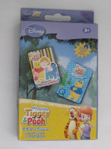 Disney My Friends Tigger & Pooh Memory Match & Crazy Eights Card Games - 1