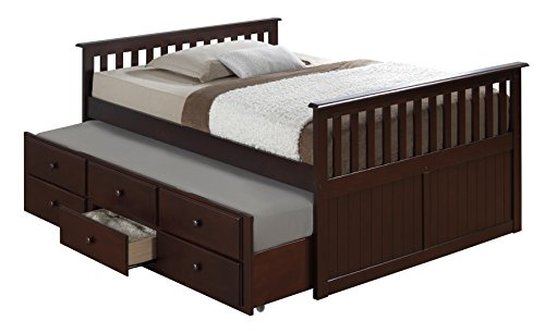 Broyhill Kids Marco Island Full Captain's Bed with Trundle, Espresso (Full Size Trundle Bed compare prices)