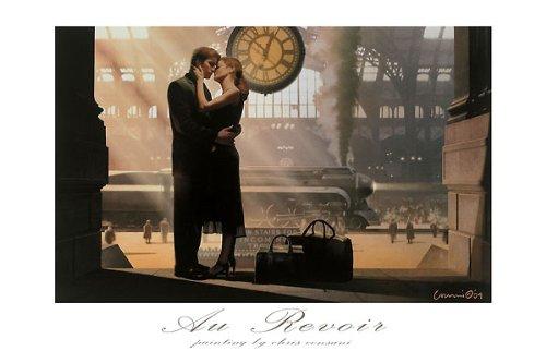 Au Revoir Chris Consani Love Romance Trains Print Poster 24x36