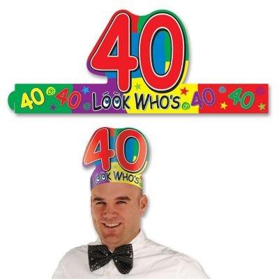"""Look Who's """"40"""" Headband Party Accessory"""