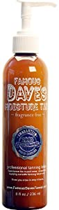 Famous Dave's Moisture Tan - 236ml / 8 fl oz. Professional Tanning Lotion & Applicator Mitt