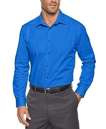 Alfani Blue Black Tonal Striped Long Sleeve Button Down