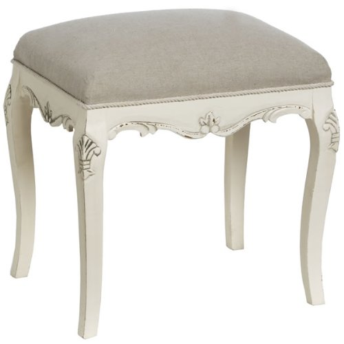 French Country Cream Dressing Table Stool