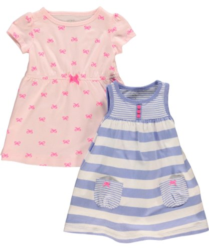 Carter'S Baby Girls' 2 Piece Dress And Romper Set (Baby) - Blue/Pink - 3 Months