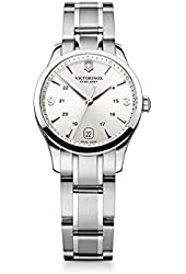 Victorinox Swiss Army Women's Alliance 241539 Silver Stainless-Steel Swiss Quartz Watch with Silver Dial