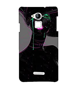 printtech Beautiful Girl Art Abstract Back Case Cover for Coolpad Note 3 Lite