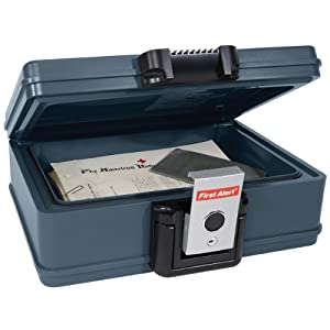First Alert 2017F Fire and Water Chest, 0.19 Cubic Foot, Gray