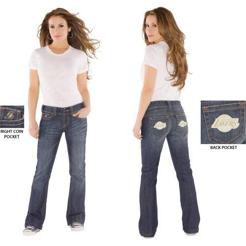 NBA Touch by Alyssa Milano Los Angeles Lakers Women's Signature Jeans (26) at Amazon.com